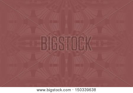 Abstract geometric seamless background dark brown, single color. Regular ellipses ornaments with wiggly lines, centered and blurred.