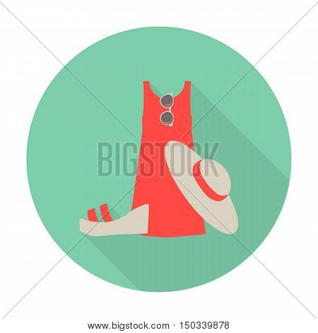 sandals, dress flat icon with long shadow for web design