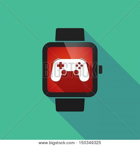 Long Shadow Smart Watch With  A Game Pad