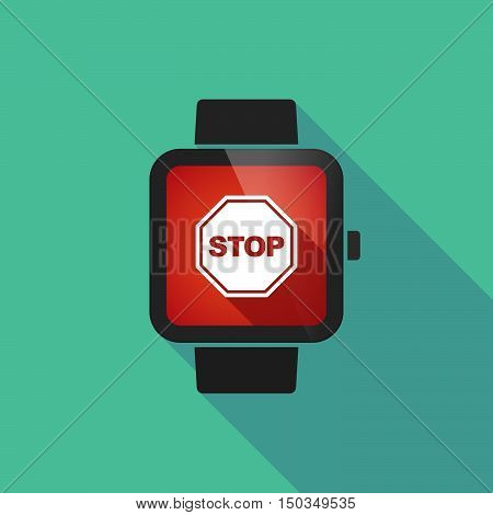Long Shadow Smart Watch With  A Stop Signal