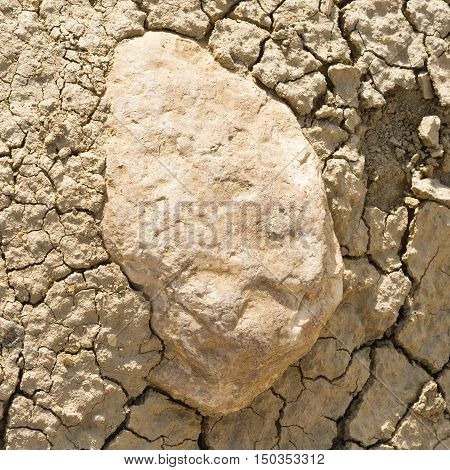 Stones and Sand of Desert as the Natural Background