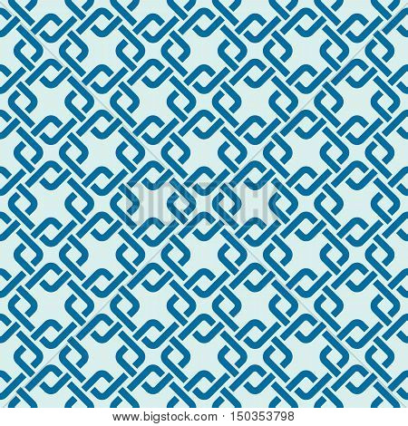 Graphic simple splicing ornamental tile vector repeated pattern made using interlace squares.