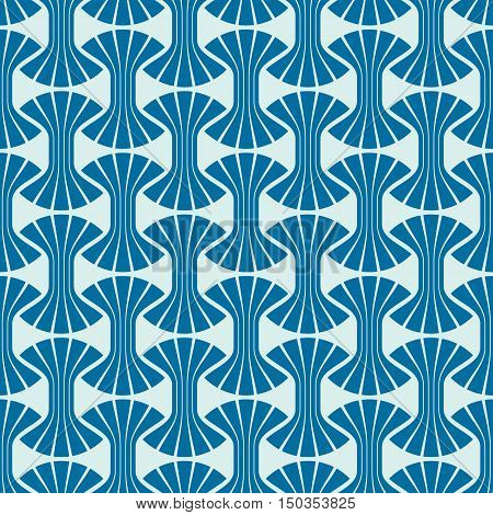 Vector seamless pattern graphic geometric wrapping paper. Abstract backdrop created with interweave undulate lines and circles can be used in textile and web designs