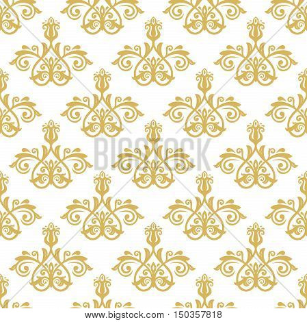 Seamless classic vector golden pattern. Traditional orient ornament