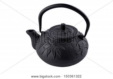 teapot in asian style isolated over white