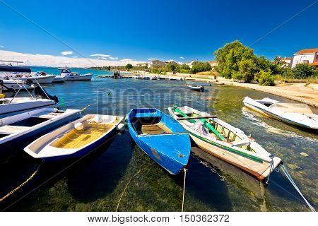 Biograd Na Moru beach and harbor view Dalmatia Croatia