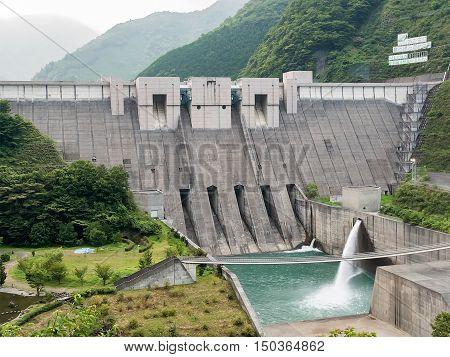 Landscape of Nagashima Dam in Shizuoka, Japan.