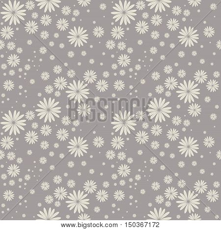 Seamless pattern cute chamomile flowers. Elegant background can be used for linen ,bed clothes ,textile ,covers, cards and more creative designs.