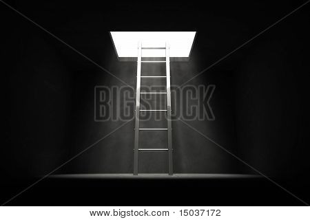 Exit The Dark - Silver Grey Ladder To The Light