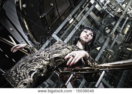 retrato de mulher elegante dominadora
