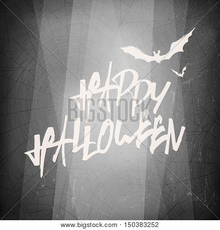 Halloween design template card. Abstract film noir background.