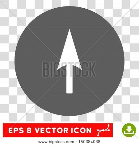 Arrow Axis Y round icon. Vector EPS illustration style is flat iconic bicolor symbol, white and silver colors, transparent background.