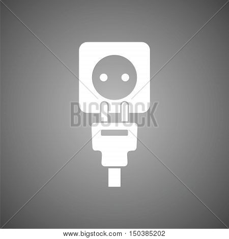 Plug socket and cord, Wire, socket and electric plug