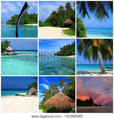 Impressions of Maldives Collage of Travel Images