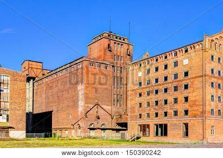 Historic Harbor Warehouses In Wismar