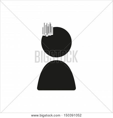Emotion anime icon sad in simple black design Created For Mobile Web Decor Print Products Applications. Black icon isolated. Vector illustration.