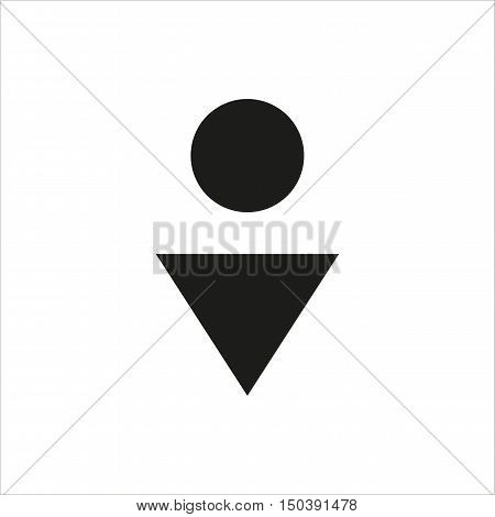 Male toilet icon in simple black design Created For Mobile Web Decor Print Products Applications. Black icon isolated. Vector illustration.