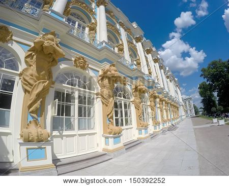 Katherine's Palace hall in Tsarskoe Selo (Pushkin) Russia