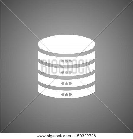 Database sign icon, Database Icon on gray background