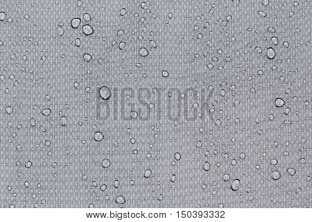 Water drops on a light gray background. Abstract background.