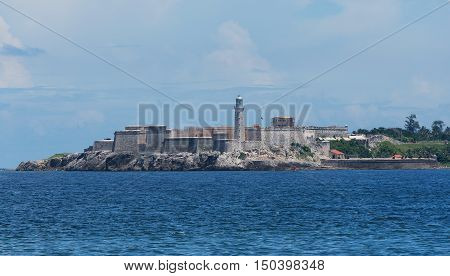 Havana City El Morro Fortress in Cuba