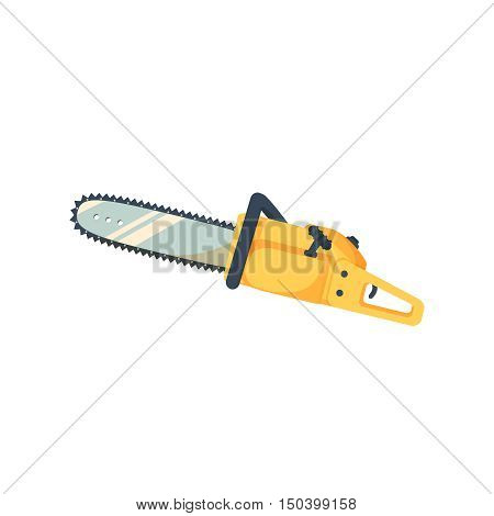 Chainsaw icon isolated on white background. Saw symbol vector illustration