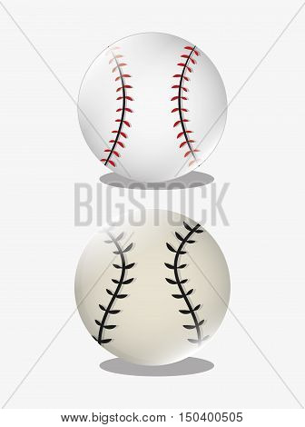 ball with baseball related icons image vector illustration design