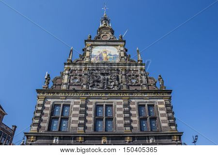 Facade Of The Historical Weigh House In Alkmaar