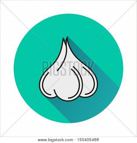 Garlic simple icon on white background Created For Mobile Web Decor Print Products Applications. Vector illustration.
