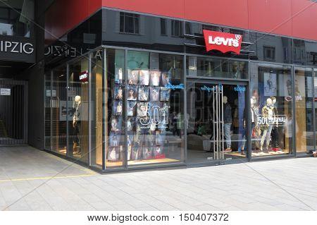LEIPZIG GERMANY - CIRCA MARCH 2016: Levi's brand store