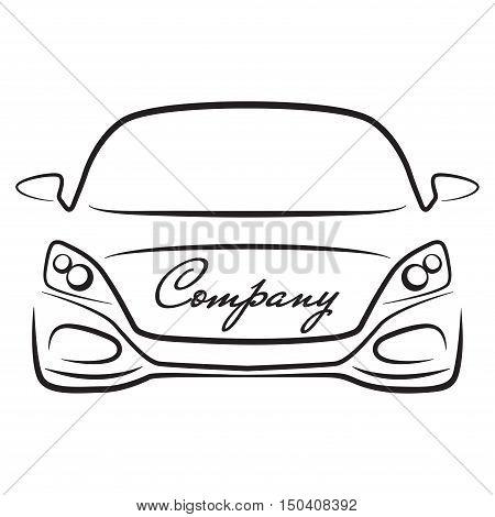 car sihlouette vehicle auto dealer company logo icon
