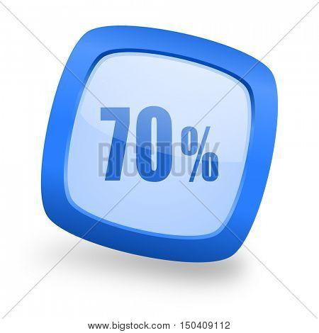 70 percent blue glossy web design icon