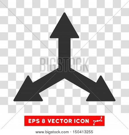 Triple Arrows round icon. Vector EPS illustration style is flat iconic symbol, gray color, transparent background.