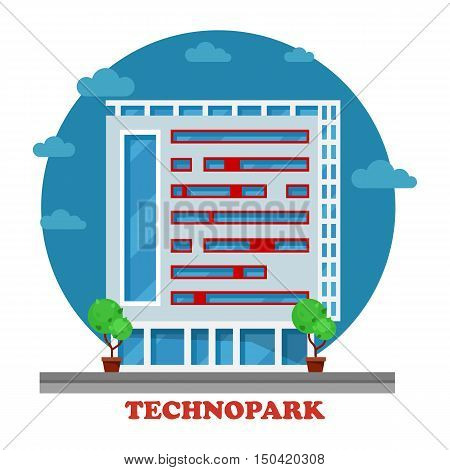Technopark building in technocity for IT firm or joint venture, support facility for e-business or software development. Can be used for information or technology, electronic business theme