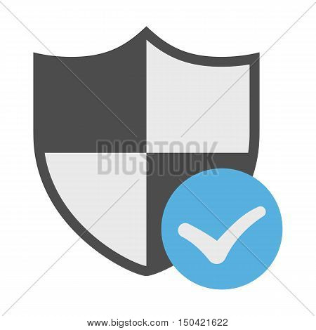 Antivirus flat icon. Illustration for web and mobile.