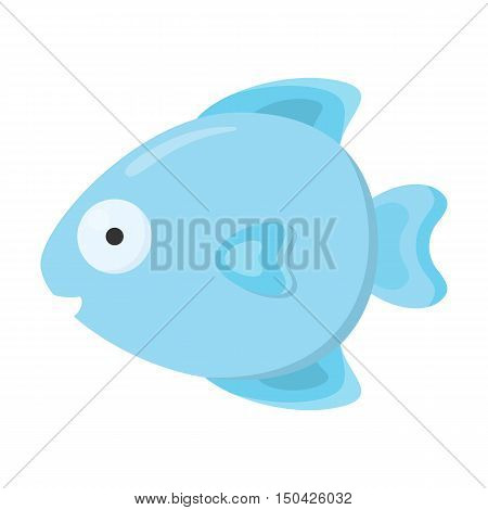 Fish cartoon icon. Illustration for web and mobile.