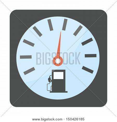 Petrol diesel gasoline pump vector gas oil station icon.