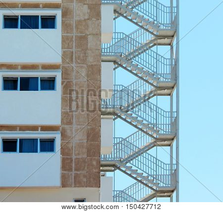 A Fire Escape Stairs at a Hotel