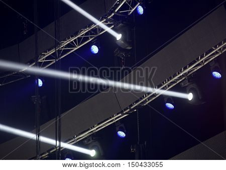 Light from the scene during the concert.
