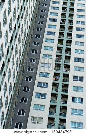 BANGKOK, THAILAND- JULY 31: High Rise Condominiums on July 31, 2016 in Bangkok, Thailand.