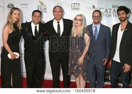 LOS ANGELES - OCT 1:  Deb Bauer Family, Ron Truppa second from left at the Catalina Film Festival - Saturday at the Casino on October 1, 2016 in Avalon, Catalina Island, CA