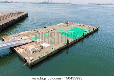 Place Of Bring A Boat Up Alongside A Wharf.