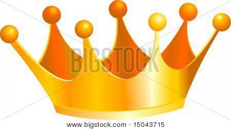 Una ilustración de una corona de oro de Reyes