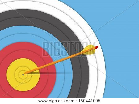 Background : archery target with an arrow vector illustrator