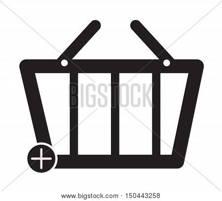 Add To Basket Commerce Button. Basket icon