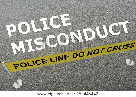 Police Misconduct Concept