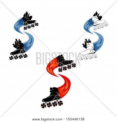 Logo roller skating. Roller skates vector illustration