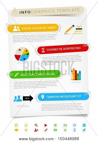 Modern Infographics Template With Paper Frames