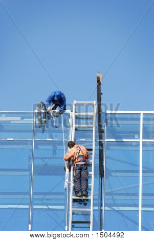 Workers On Height