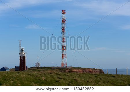 Radio Technology Tower On The Island